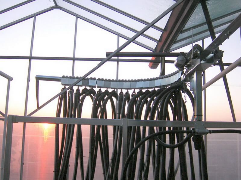 Szimpla sínes öntözőkocsi hurok sín